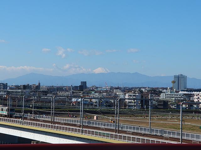 多摩川浅間神社から望む富士山