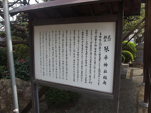 武州柿生琴平神社写真